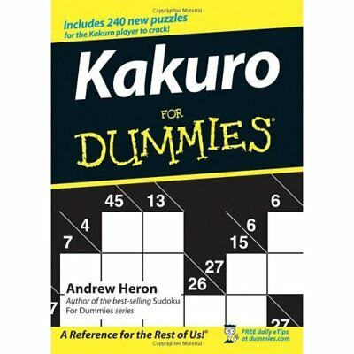 Kakuro for Dummies - Paperback NEW Heron, Andrew 2005-12-07