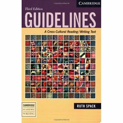 Guidelines: A Cross-Cultural Reading/Writing Text - Paperback NEW Ruth Spack 200