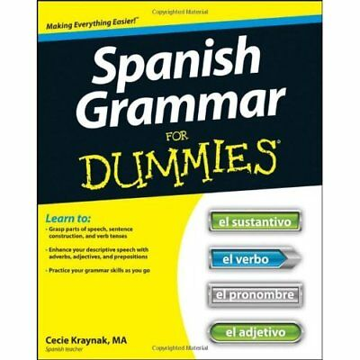 Spanish Grammar For Dummies (For Dummies - Paperback NEW Kraynak, Cecie 2012-05-