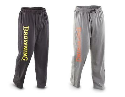 Mens BROWNING Buckmark CLASSIC LOUNGE Sweat PANTS  *BLACK or GRAY w/Silk Screen