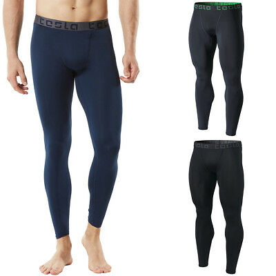 90679a585b72c TSLA TESLA MUP09 Cool Dry Baselayer Sports Compression Pants - Navy ...