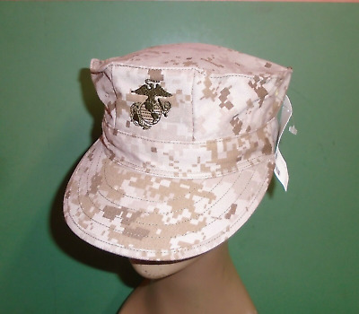 US Military Issue Marine Corps USMC 8 Point Desert Marpat Camo Cover Hat Cap S