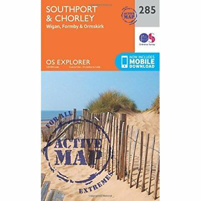 OS Explorer Map Active (285) Southport and Chorley (OS  - Map NEW Ordnance Surve