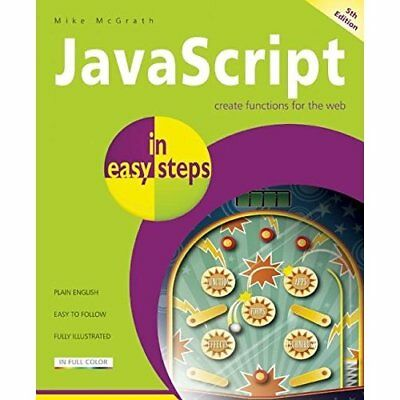 JavaScript In Easy Steps 5th Edition - Paperback NEW Mike McGrath 2013-01-28