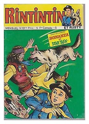 RINTINTIN N° 107 DE 1978  BE star trek bonanza