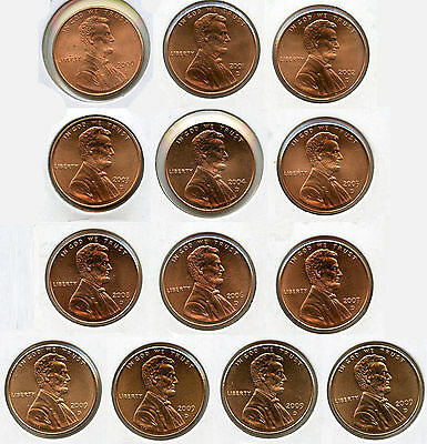 2000 - 2009 Lincoln Memorial Cent Penny Set - Uncirculated - Denver Mint - AG274
