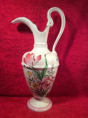Gorgeous Vintage Luneville French Faience Ewer Vase Pitcher, lun106