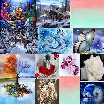 5D DIY Diamond Painting Flower Animal Embroidery Cross Craft Stitch Home Decor