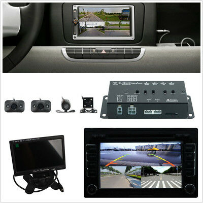 """DC12V 360° Vehicle Panoramic Surround View System DVR 4-CH 7"""" HD TFT LCD Monitor"""