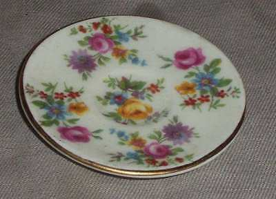 """Miniature English """"foley"""" Plate, With Floaral Decoration.bone China,  (#bn50-30)"""