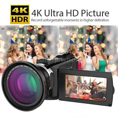 "WiFi 4K HD 1080P 48MP 3"" Digital Camcorder Video DV Camera with IR Night Vision"