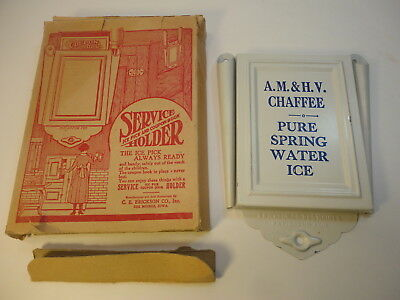 Antique A.M. & H.V. Chaffee Water Ice Pick Holder 1920s (Oxford MA)