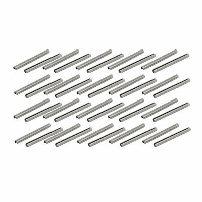 M2x25mm 304 Stainless Steel Split Spring Dowel Tension Roll Pin 40pcs