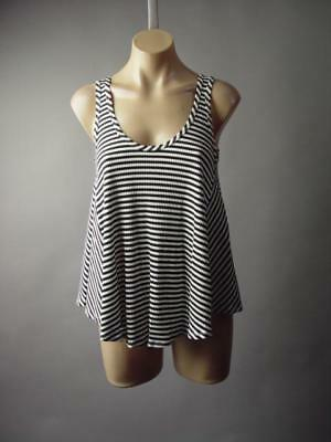 Black White Breton Stripe French Parisian Cowl Neck Swing Top 208 mv Shirt S M L