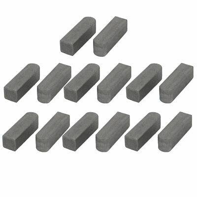 uxcell 55mmx20mmx12mm Carbon Steel Key Stock to Lock Pulleys Silver Tone