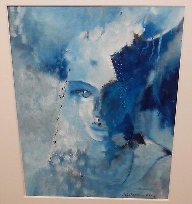 """Raul Dorn """"erin (Four)"""" Original Oil On 100% Rag Paper Painting With C.o.a"""