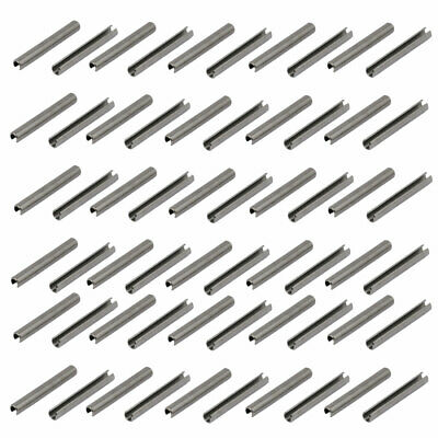 M3x25mm 304 Stainless Steel Split Spring Dowel Tension Roll Pin 60pcs