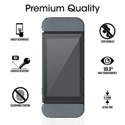 2X Premium Tempered Glass Screen Protector Guard Shield For Nintendo Switch New