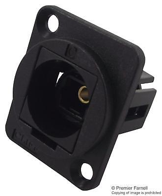 Cliff Electronic Components - CP30217 - Feedthru, Toslink, Black Plastic