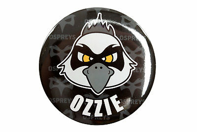 Ospreys Mens Ospreys Rugby Ozzie Giant Button Badge Accesorry