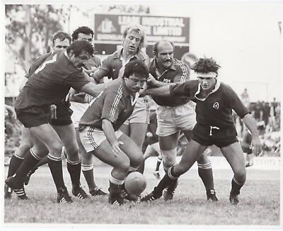 Original Press Photo Queensland v France 14.6.1981 J P Rives & others 10x8in (2)
