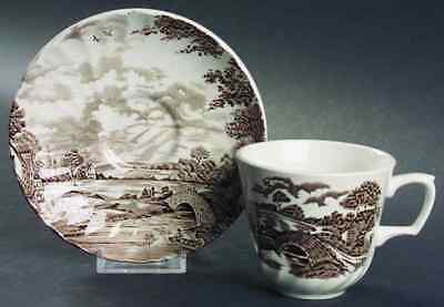 Ridgway COUNTRY DAYS BROWN Cup & Saucer 611004