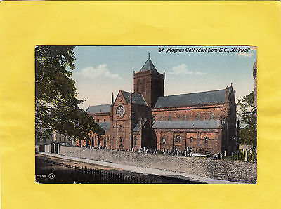 ST  MAGNUS CATHEDRAL  from  S  E    ,   KIRKWALL , ORKNEY , SCOTLAND  ( 7B )