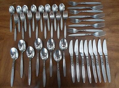 "40 Pc. Set, Svc. for 8 Amefa Stainless Steel Flatware (Holland) ""Tulip Time"""