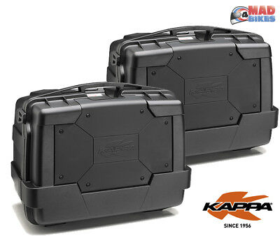 008f4d89c8 Kappa KGR46N Black Motorcycle Panniers Luggage Cases (Givi Monokey Fitment)  x 2
