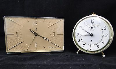 Set Of 2 Alarm Clocks Jazistor And Jaz Made In France Years 50 Vintage (Gw39)