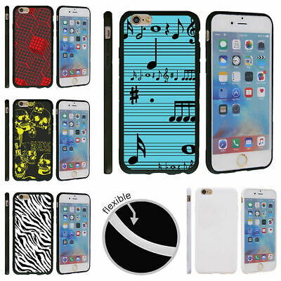 "For Apple iPhone 6 | iPhone 6s (4.7"") Slim Fit Soft TPU Bumper Case Patterns"