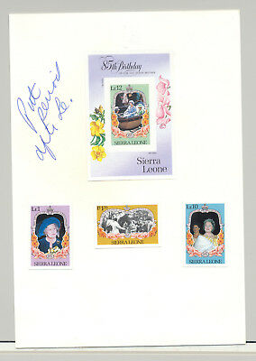 Sierra Leone #690-693 Queen Mother 3v & 1v S/S Imperf Proofs on Card