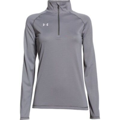Under Armour Stripe Tech 1/4 Zip Top - Women's - Graphite - XL - 1276211-041