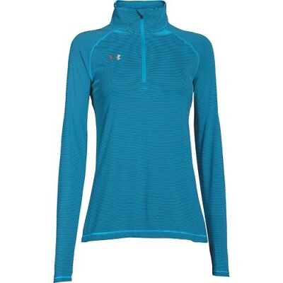 Under Armour Stripe Tech 1/4 Zip Top - Women's - Blue - XS - 1276211-458