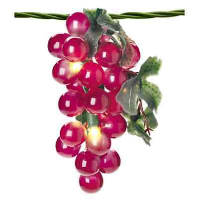 string Christmas 35 lights Summer Wine Holiday Tree Grape Bunches!