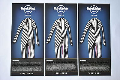Lot (3) Hard Rock Cafe Boston - Aerosmith Steven Tyler Promo Cards
