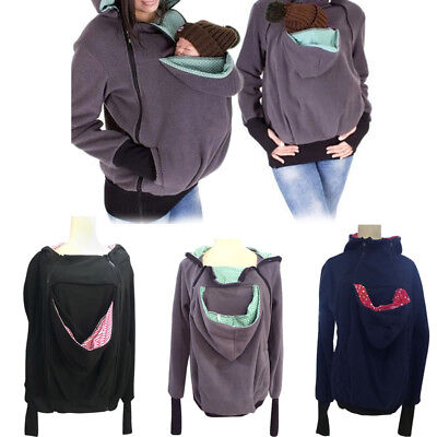 Maternity Mom Women Baby Front Carrier Hoodie Jumper Casual Kangaroo Coat Jacket