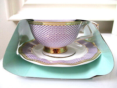 Robert Gordon Pottery Australia Bone china Tea  Cup Saucer Set spring Fling  new