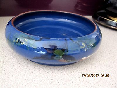 Old,torquay Ware Longpark, Diving Kingfisher,large Bowl,18 Cm