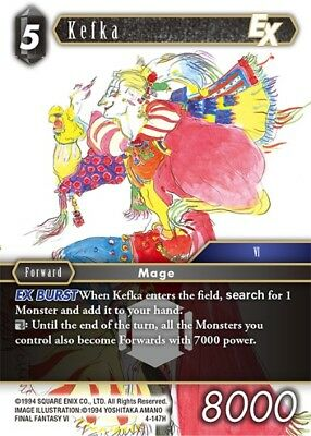 Kefka EX	-   4-147H	 - 	Hero  -NM-  Final Fantasy TCG  OPUS 4 IV