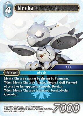 Mecha Chocobo	-   4-045H	 - 	Hero  -NM-  Final Fantasy TCG  OPUS 4 IV