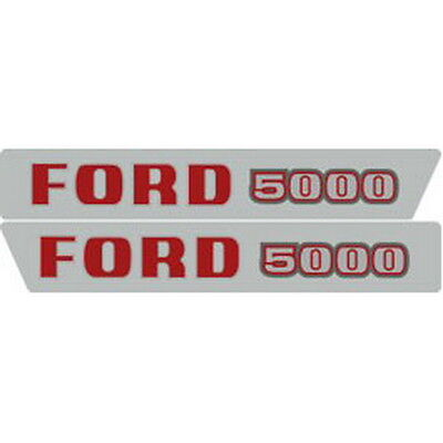 5000 Ford Tractor Hood Decal Kit Early 5000 High Quality Long Lasting Decals