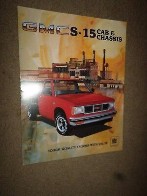 """1983 GMC """"S-15 Cab & Chassis"""" Truck Dealer Sales Brochure"""