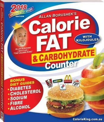 NEW Allan Borushek's 2018 Calorie Fat And Carbohydrate Counter By Allan Borushek