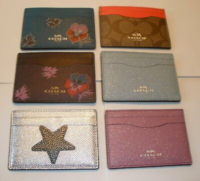 **reduced** Coach Credit Card Case Id Case Nwt  Assortment Of 9 Styles To Choose