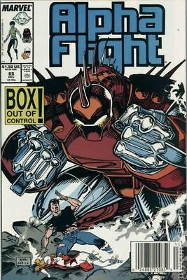 Alpha Flight (1st Series) #65 1988 FN Stock Image