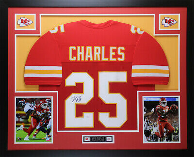 23d01ed9ed9 Jamaal Charles Autographed   Framed Red Kansas City Chiefs Auto JSA COA D2-L