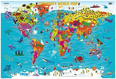 Collins Children's World Map by  | Map Book | 9780008114732 | NEW