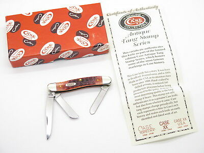 2015 Case Xx Tested 6318 Red Bone Stockman Folding Knife Antique Stamp