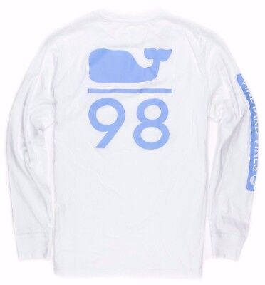 Vineyard Vines Boys L/S White Cap Whale 98 Graphic T-Shirt